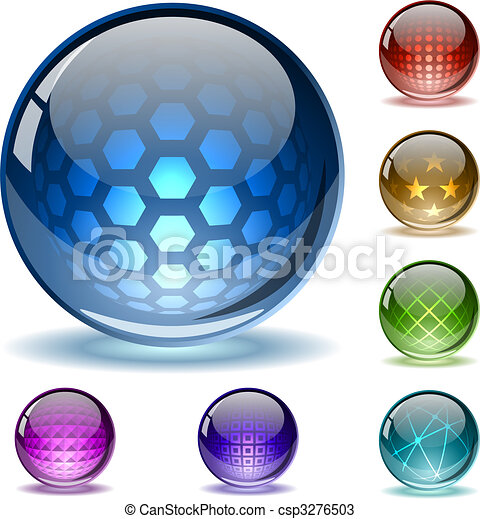 globi, astratto, colorito - csp3276503