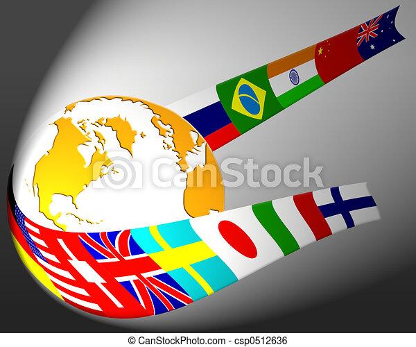 globo, bandiera - csp0512636