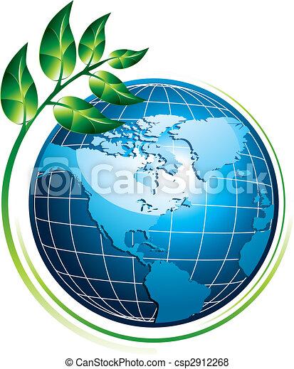 globo blu, pianta - csp2912268
