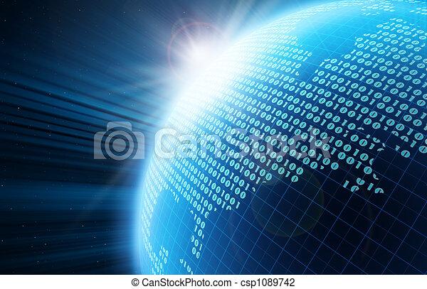 globo, digitale - csp1089742