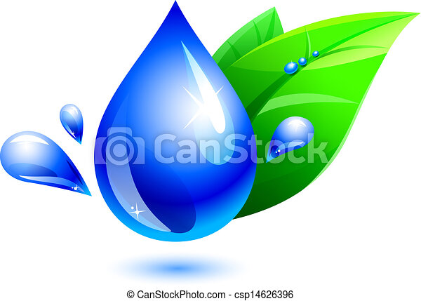 goccia acqua, foglia - csp14626396