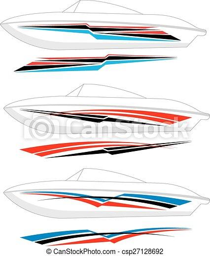 grafica, striscia, pronto, :, barca, vinile - csp27128692