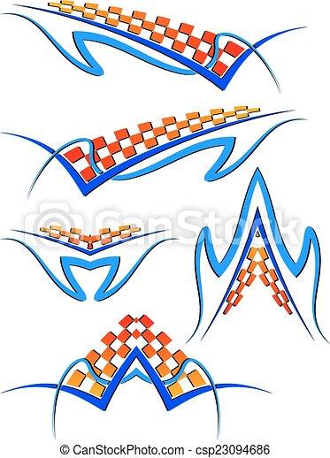 grafica, striscia, veicolo, pronto, :, vinile - csp23094686