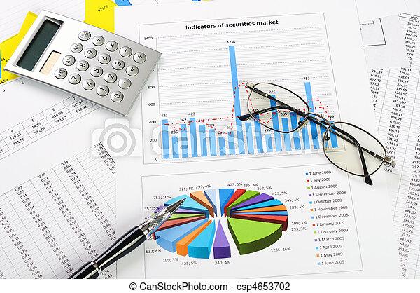 grafici, vendite - csp4653702