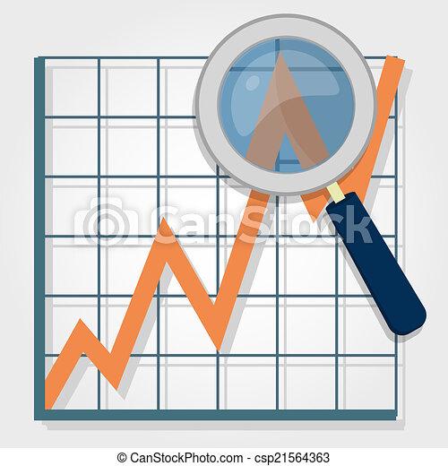 grafico, analisi - csp21564363