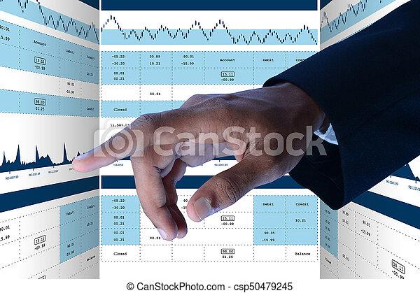 grafico, crescita, vendite, mercato, casato - csp50479245