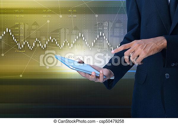 grafico, crescita, vendite, mercato, casato - csp50479258
