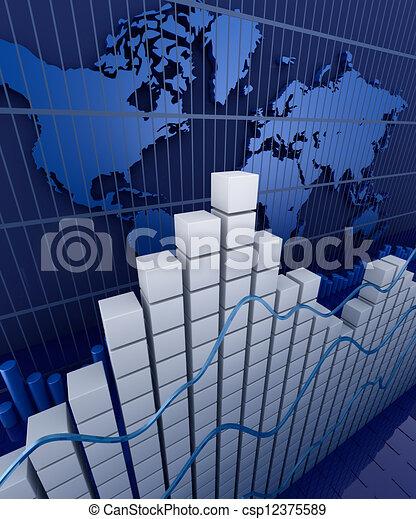 grafico, finanziario, statistic., affari - csp12375589