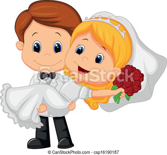 groo, gioco, cartone animato, sposa, bambini - csp16190187