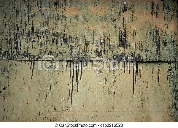 grunge, metallo, porta - csp0216528
