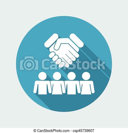 gruppo, accordo, icona - csp45739607