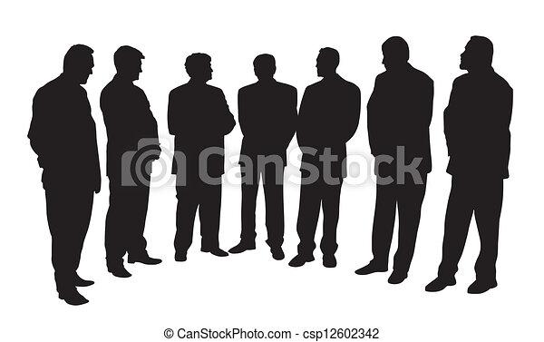 gruppo, persone affari - csp12602342