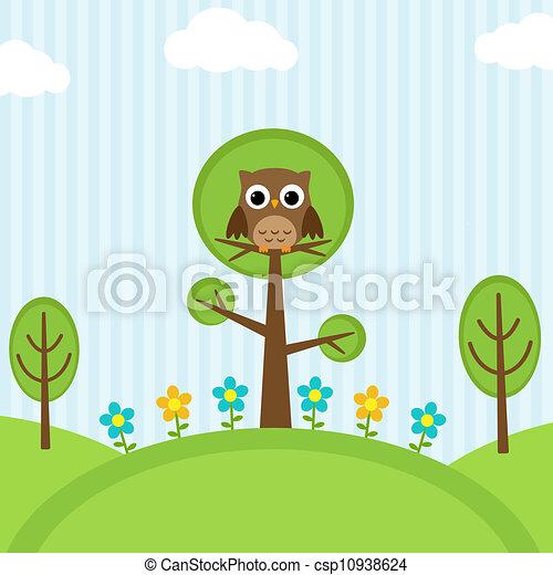 gufo, albero - csp10938624