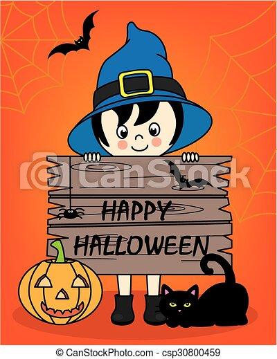 halloween, felice - csp30800459