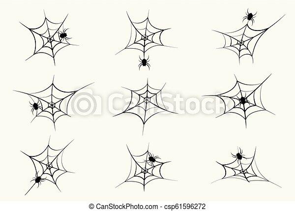 halloween, isolato, elemento, decorazione, fondo, spiderweb, felice - csp61596272