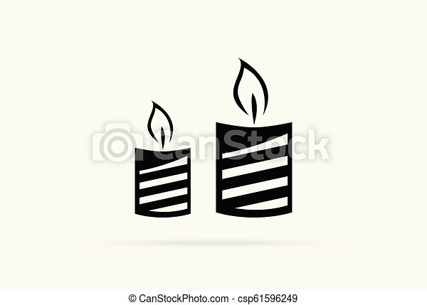 halloween, isolato, elemento, decorazione, fondo, candela, felice - csp61596249