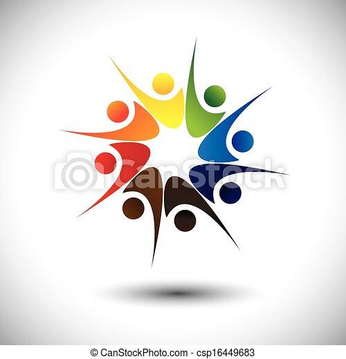 happiness., concetto, &, gioia, personale, condivisione, amici, o, felice - csp16449683