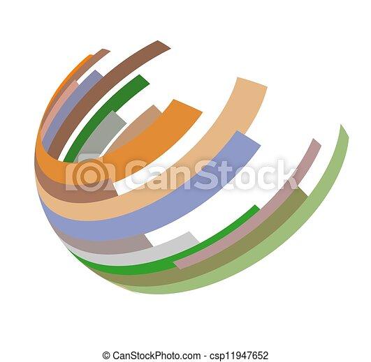 hemispherical, icona - csp11947652