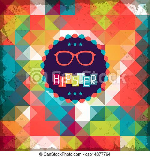 hipster, style., fondo, retro - csp14877764