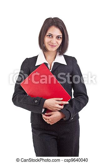 holding donna, organizzatore, affari - csp9640040