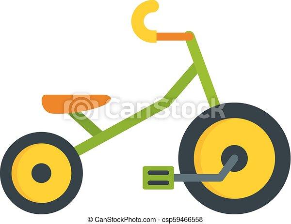 icona, appartamento, stile, bambini, triciclo - csp59466558
