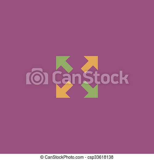 icona, frecce, indicazione, quattro - csp33618138