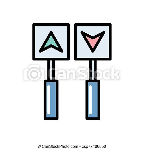 icona, frecce, isolato, football, americano - csp77486850