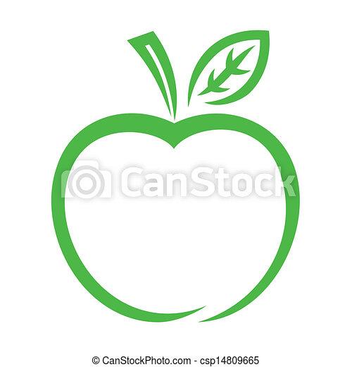 icona, mela - csp14809665
