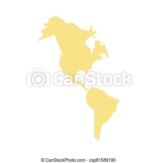 icona, nuovo, continente, americano, isolato - csp81589190