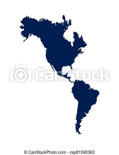 icona, nuovo, continente, americano, isolato - csp81590363