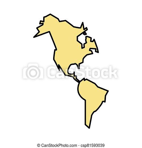 icona, nuovo, continente, americano, isolato - csp81593039