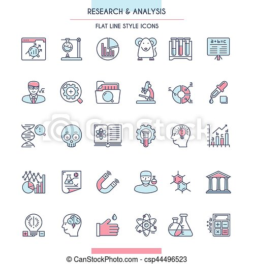 icona, ricerca, analisi, set - csp44496523