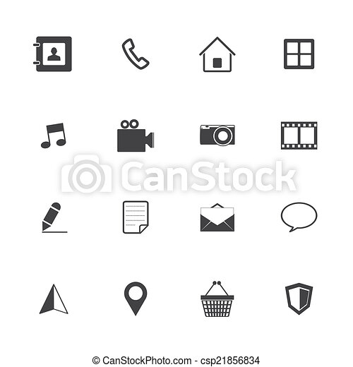 icona telefono, mobile - csp21856834