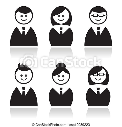 icone, affari persone, set, avatars - csp10089223