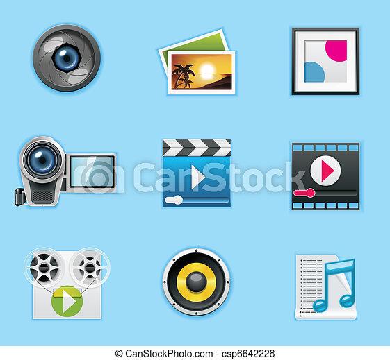icone, domande, servizi - csp6642228