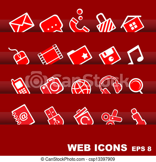 icone fotoricettore - csp13397909