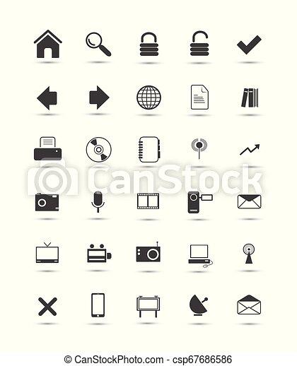 icone fotoricettore - csp67686586