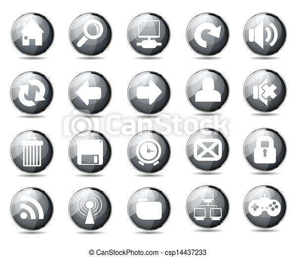icone fotoricettore - csp14437233