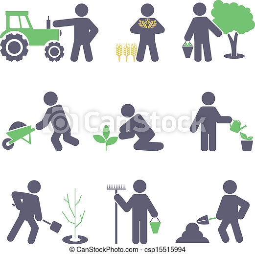icone, set, agriculture. - csp15515994