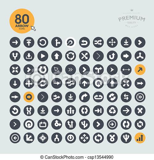 icone, set, freccia - csp13544990