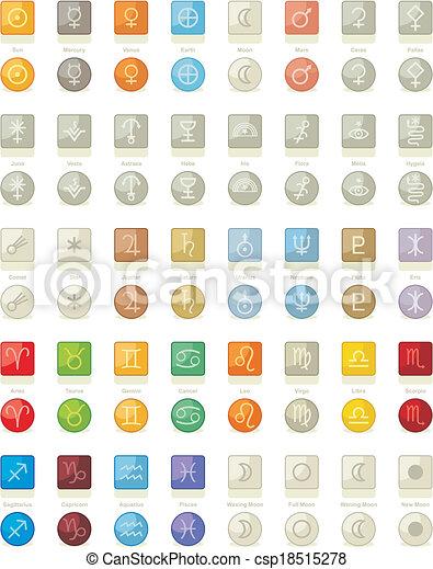 icone, sistema, solare, pacco - csp18515278