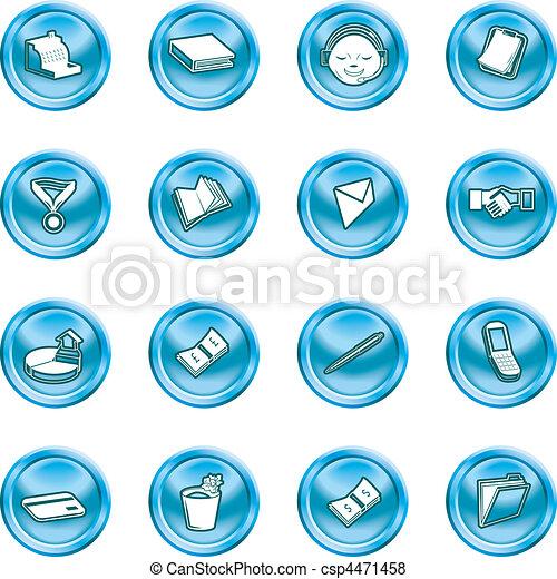 icone ufficio, affari - csp4471458