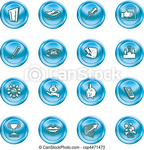 icone ufficio, affari - csp4471473