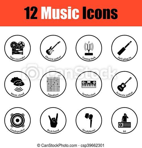 icons., musicale, set - csp39662301