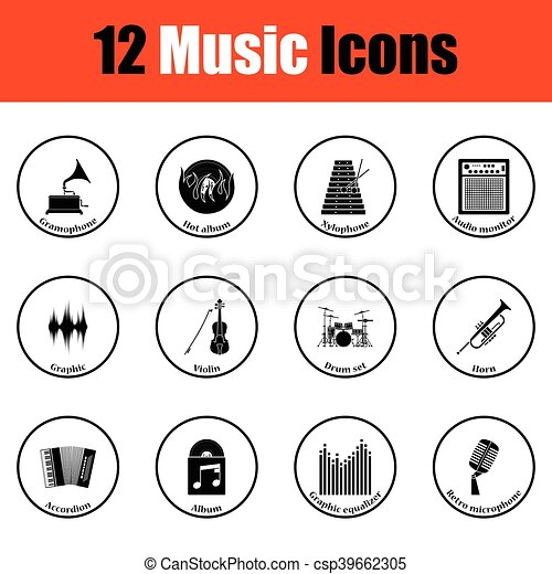 icons., musicale, set - csp39662305