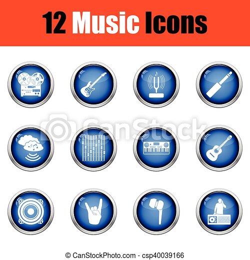 icons., musicale, set - csp40039166