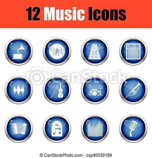icons., musicale, set - csp40039189