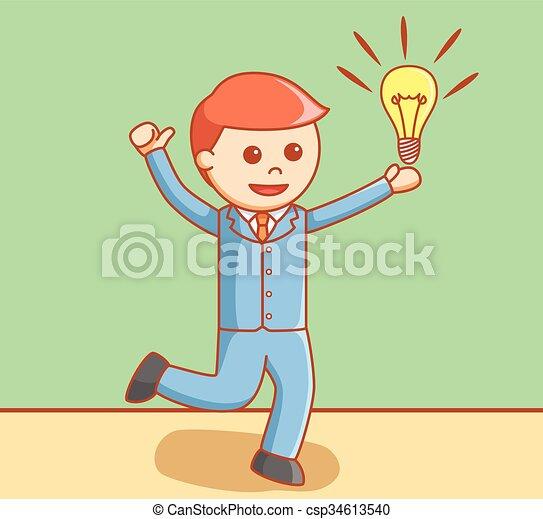 idea, uomo affari - csp34613540