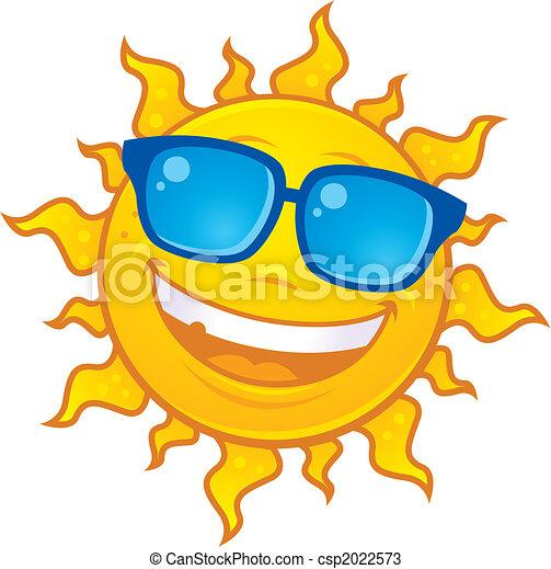 il portare, sole, occhiali da sole - csp2022573