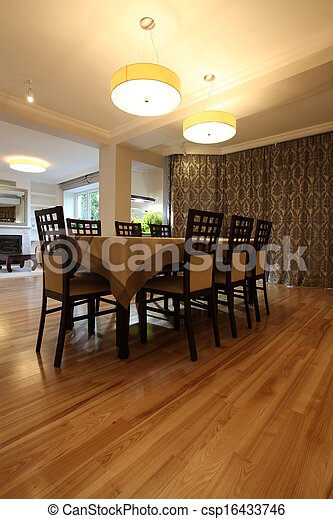 illuminato, sala da pranzo - csp16433746